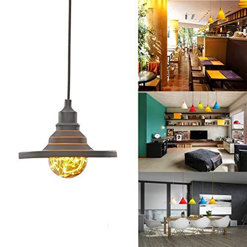 GreenSun E27 Flexible Lustre Suspension Adaptateur De Douille En Silicone avec Fil Colorés Eclairage de Plafond Pour L'ampoule LED Moderne #6