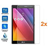 Pack 2X Pellicola salvaschermo per ASUS ZENPAD 8' Z380C, Pellicole salvaschermo Vetro Temperato 9H+, di qualità Premium Tablet, Elettronica Rey