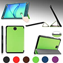 """e-PlanetPro Samsung Galaxy Tab A 8.0"""" Case - Luxury Ultra Slim Protective Shell, Shockproof, Drop Resistance, Anti-Dust Cover for Samsung Galaxy Tab A 8.0"""" (Wi-Fi, 3G/4G/LTE all models) with Sleep/Wake Up function! GREEN"""