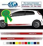 Graph World adesivi abarth Adesivi fasce KIT strisce laterali fascia Strisce Adesivi Stickers Fiancate Vinile professionale Strip Decal