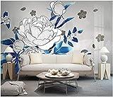HQHZZQ 3d wallpaper foto personalizzata cinese disegno a tratteggio fiore penna fiore room room home decor 3d murales carta da parati per pareti 3 d, 430x300 cm (169.3 by 118.1 in)