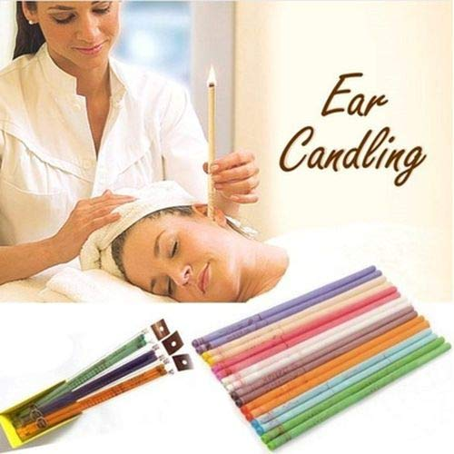 SWQ 10 pcs más rápido Ear Candling Therapy Estilo Recto Cuidado de oído Ear Candle Aromatherapy Indian Ear Candles Beeswax