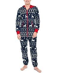 Pijamas de Navidad para Familiares, LILICAT Monos Ropa de dormir de Manga Larga con Estampado de Damas Elk, Pijamas de Mujer & Hombre & Niños (Hombre: 4XL, Hombre Armada)