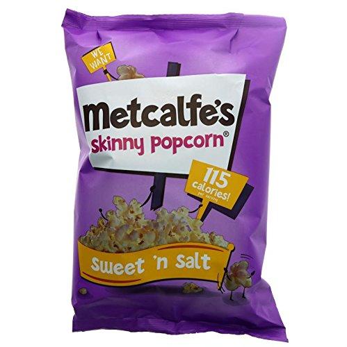 Maigre Topcorn Douce Et Salée Partage Sac 80G De Metcalfe - Paquet de 6