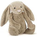 Jellycat Bashful - Conejo de peluche (tamaño pequeño), color gris