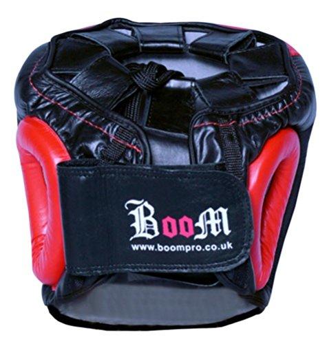 Boom Prime Rot Leder Boxen Kopfschutz Helm Kopfschutz MMA UFC Martial Arts Abbildung 3