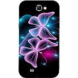 Casotec Butterflies Neon Light Design Hard Back Case Cover for Samsung Galaxy Note