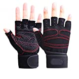 #3: AllExtreme Cycling Gloves Mountain Bike Gloves Road Racing Bicycle Gloves Shockproof Gel Pad Breathable Riding Gloves Half Finger Biking Gloves- (L)