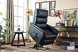 MCombo Elektrisch Aufstehhilfe Fernsehsessel Relaxsessel elektrisch verstellbar (Schwarz) - 2