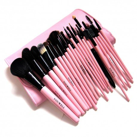Ensemble 23 pinceaux maquillage complet - Pink Girl