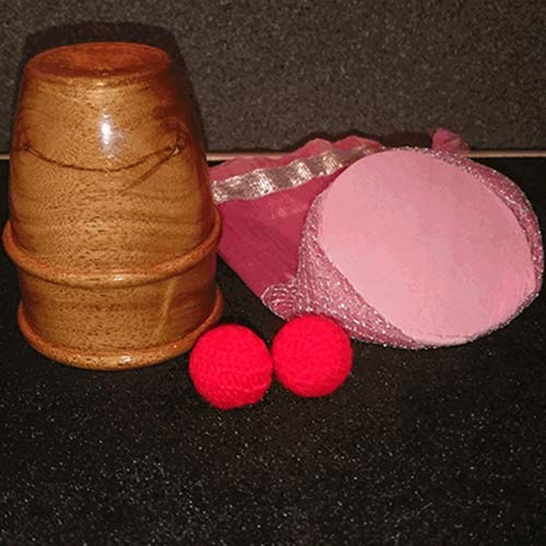 SOLOMAGIA Exotic Wooden Chop Cup - Magic with Balls - Zaubertricks und Props Chop Cup Balls