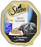 Sheba Katzenfutter Nassfutter Sauce Lover mit Thunfisch, 11 x 85 g