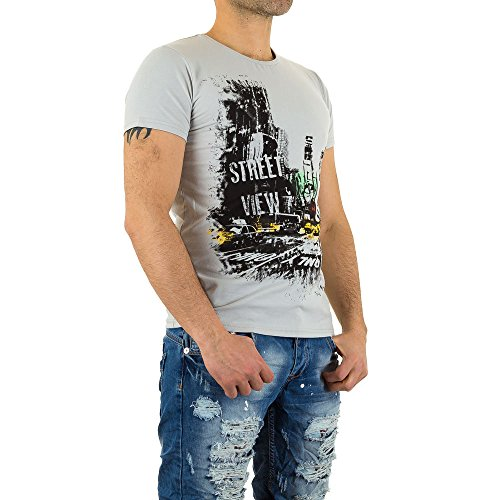 Gemustertes T-Shirt Für Herren bei Ital-Design Grau