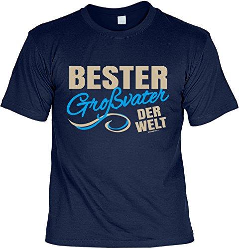 T-Shirt für Opa: Bester Großvater der Welt - Geschenk, Geburtstag - navyblau Navyblau