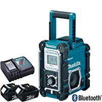 Makita DMR106 Bluetooth Jobsite Radio With USB Charging Port & 2 x BL1830 Batteries & DC18RC Charger