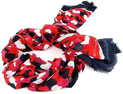 Tommy Hilfiger Allover Hearts Scarf, Parte de Arriba de Bikini para Mujer, Azul (Oatmeal/Tommy Navy/Fiery Red/Bright Ro), Talla Única (Talla del Fabricante: OS)