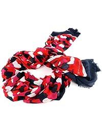 Tommy Hilfiger Damen Halstuch Allover Hearts Scarf, Mehrfarbig (Oatmeal/Tommy Navy/Fiery Red/Bright Ro 901), One size (Herstellergröße: OS)