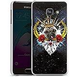 Samsung Galaxy A3 (2016) Housse Étui Protection Coque Carlin Roi Langue Chien Roses
