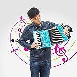 Bnineteenteam Strumento Musicale a Fisarmonica per Pianoforte a 8 Tasti a 22 Tasti per Studenti Principianti 3 Colori tra Cui Scegliere(Blu)