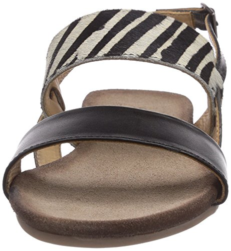 SPM Nantes Sandal Damen Sandalen Mehrfarbig (Black/Zebra)