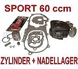 60 ccm TUNING ZYLINDER KIT KOMPLETT NADELLAGER für EXPLORER TWISTER KALLIO 50