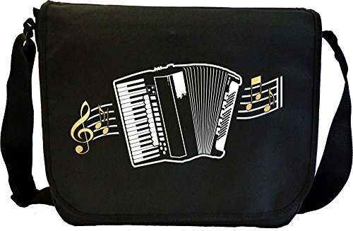 Accordion Curved Stave - Sheet Music Document Bag Musik Notentasche MusicaliTee