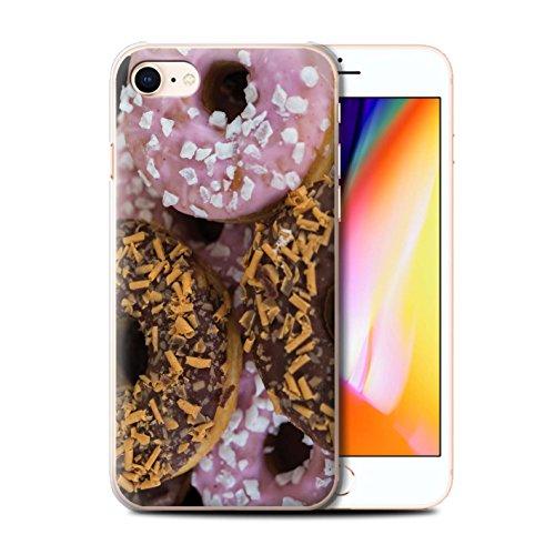 Stuff4 Hülle / Case für Apple iPhone 8 / Marmelade Muster / Schmackhafte Donuts Kollektion Schokolade/Rosa