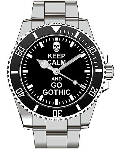 GOTHIC Geschenk Fan Artikel Zubehör Fanartikel Uhr (Zubehör Goth)