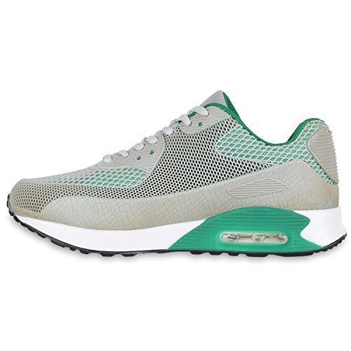 Damen Herren Unisex Laufschuhe Neon Runners Casual Schuhe Sportschuhe Grau Grün