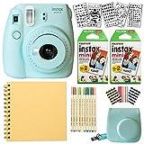 Fujifilm Instax Mini 9 Instant Camera (ICE BLUE) + Fuji INSTAX Film