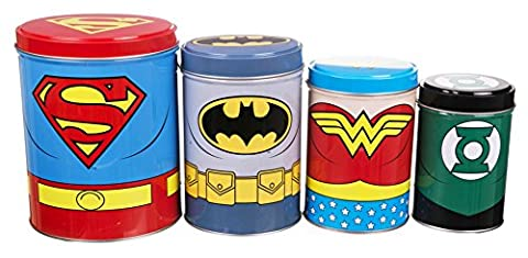 Botes empilables DC Comics La Ligue des Justiciers lot de 4 botes