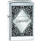 Zippo 60000506 Victorian Frame Briquet Laiton High Polish Chromé 3,5 x 1 x 5,5 cm