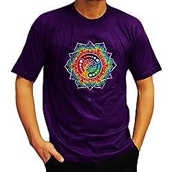 Camiseta Morada de Mandala