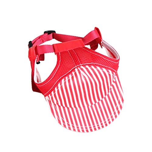 Gazechimp Haustier Hund Katze Stoff Baseball Hut Welpen Mütze Outdoor Sunbonnet Sommer - Red, S (Red Hat-stoff)