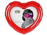 Aufblasbarer Foto Bilderrahmen Herz Fotohalter Kartenhalter rot aufblasbar mit 3 Saugnäpfen