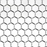 Mosaik Fliese Keramik Hexagon weiß glänzend für WAND BAD WC DUSCHE KÜCHE FLIESENSPIEGEL THEKENVERKLEIDUNG BADEWANNENVERKLEIDUNG