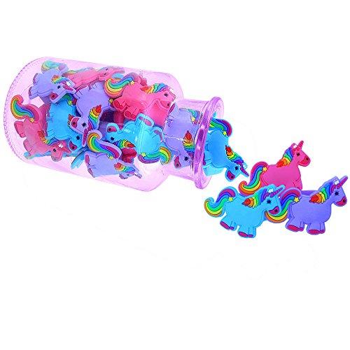 German Trendseller® - 6 x Einhorn Ringe ┃ NEU ┃ Regenbogen ┃ Mitgebsel ┃ Kindergeburtstag┃6 Stück - 3