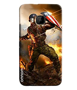 Omnam Captain America Army Printed Designer Back Cover Case For HTC One M9