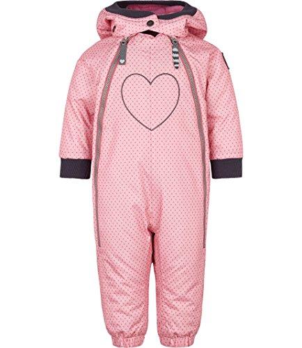 Racoon Baby-Mädchen Schneeanzug SIA DOT Wassersäule 9.000, Mehrfarbig (Sea Pink Pin), 80