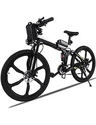 AIMADO 26in Vélo Électrique Pliable Tout-Terrain 250W Vélo de Montagne avec Lithium-Ion Batterie 36V - Vitesse 30 km/h – Charge 200kg - UK Plug (EU Stock)