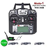 Flysky FS-i6X Sender 2.4GHz 10CH AFHDS 2A RC Transmitter TX Mit iA6B Empfänger for FPV Racing RC Drone Quadcopter by LITEBEE (Modus-1 Right Hand Throttle) Vergleich