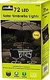 Solarbetriebener Sonnenschirm mit Lichterkette–Dual-Funktion, 72LED