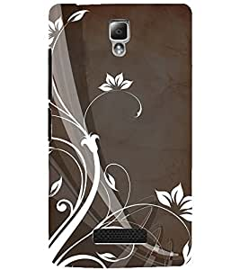 PrintDhaba LEAF PATTERN D-6603 Back Case Cover for LENOVO A2010 (Multi-Coloured)