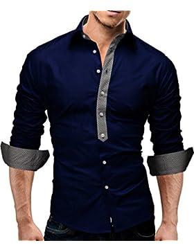 Merish Camicia Uomo Slim Fit Piazza Contrasto 5 Colori Taglia S - XXL Modell 11