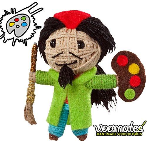 Voomates String Doll Voodoo-Puppen - handgemachte Sorgen-Püppchen Fingerpuppen - Die Handpuppen mit 81 Modelle - Salvador Dali