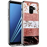 CLM-Tech Galaxy A8 2018 Hülle, TPU Silikon-Hülle Case Marmor Mehrfarbig #3 Schutzhülle für Galaxy A8 Handyhülle