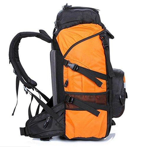 ROBAG Bergsteigen, Latex, 45 l Wandern camping Rucksäcke große Kapazität Rucksack Tasche orange