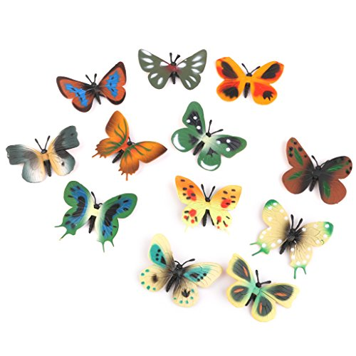 model-plastic-butterfly-figures-kids-toy-set-of-12pcs-multi-color