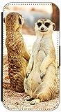 Kuna Flip Cover Design K672 Lemur Lustig Tier Tiere für Samsung Galaxy S5 Mini G800 Hülle aus Kunst-Leder Handytasche Etui Schutzhülle Case Wallet Buchflip Rückseite Schwarz Vorderseite Bedruckt mit Bild (672)