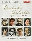 Deutsche Gedichte Wissenskalender. Tischkalender 2020. Tageskalendarium. Blockkalender. Format 12,5 x 16 cm